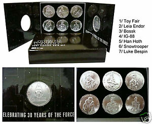 STAR-WARS-2007-30TH-ANNIVERSARY-VINTAGE-FIGURE-COIN-SET