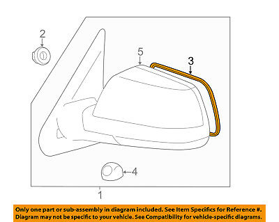 Genuine Toyota 87906-0C010 Rear View Mirror Sub Assembly