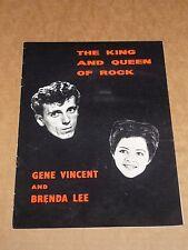 Gene Vincent/Brenda Lee 1962 UK Tour Programme