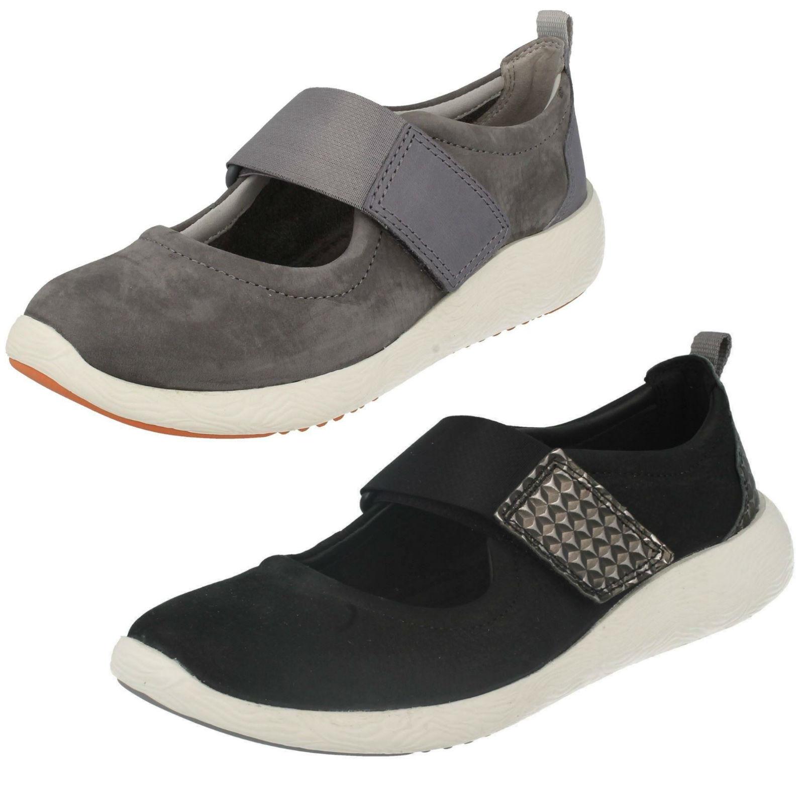 Mesdames vente clarks cowley folie noir ou de gris nubuck cuir chaussures de ou loisirs 056b88