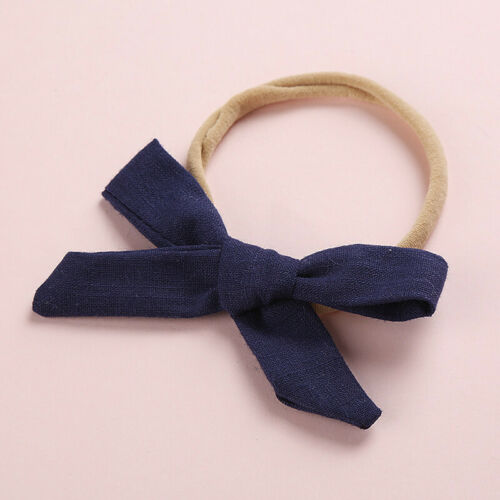 Girls Kids Toddler Nylon Ponytail Holder Bow Headband Solid Hairband Hair Rings