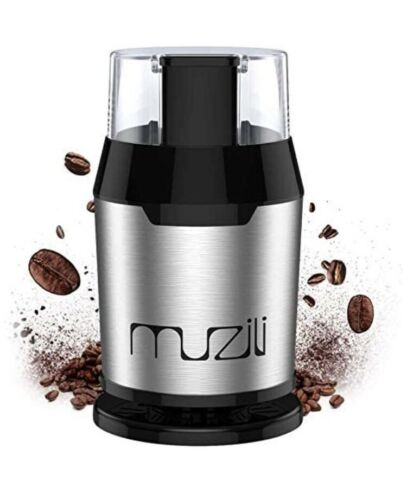 Coffee Grinder, Muzili Electric Coffee Grinder for Coffee Beans Nuts and Grains 695637037507