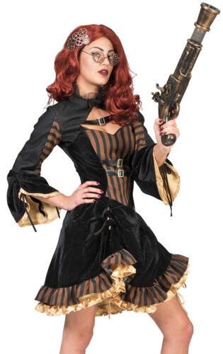 Steampunk Sally Costume Pour Femmes-Noir Brun-Victorien Carnaval