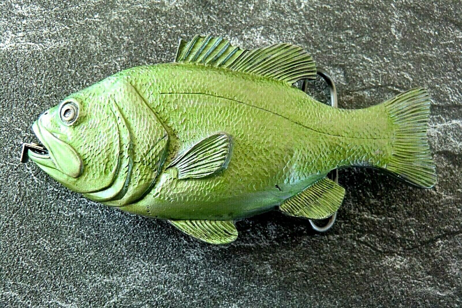 Gürtelschnalle Angelsport Fisch mit Maßband Angel Fishing Wechselschnalle Buckle