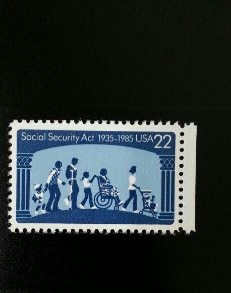 1985 22c Social Security Act, 50th Anniversary Scott 21