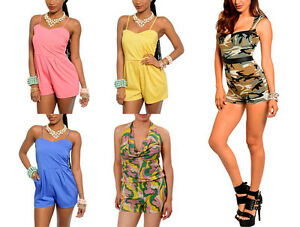 e190dabb4a0f Image is loading NEW-Lot-Womens-Overall-Vintage-Romper-Jumpsuit-Catsuit-