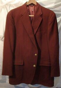 Vintage 80s Burgundy Sport Jacket 2 Button 40 R