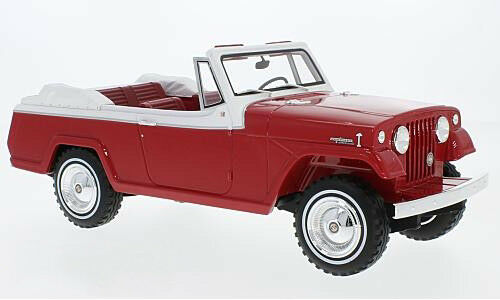 1970 Jeep Jeepster Commando ConGrünible rot by BoS Models LE of 252 1 18 Scale