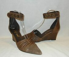 Free People Womens Shadow Dancer Leather Wedge Heels Retail $228 size 9