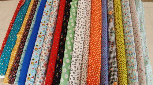 54-58 Pulgadas de Ancho 100/% algodón Metro Telas de diseñador de alta calidad Cuarto Gordo