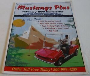 Details about Mustang Plus 1999 Newsletter Magazine Ron & David Bramlett  Car Auto Parts Ford
