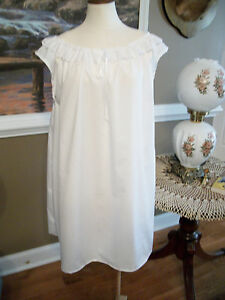 CIVIL WAR DRESS VICTORIAN UNDERPINNINGS LADY'S WHITE COTTON CHEMISE~PLUS SIZE