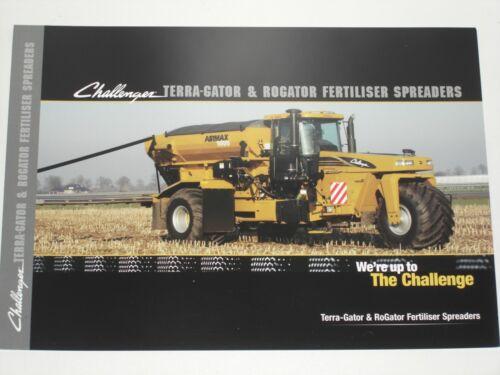 Challenger Terra Gator /& RoGator fertiliser spreaders incluso conductor Prosp. 9208