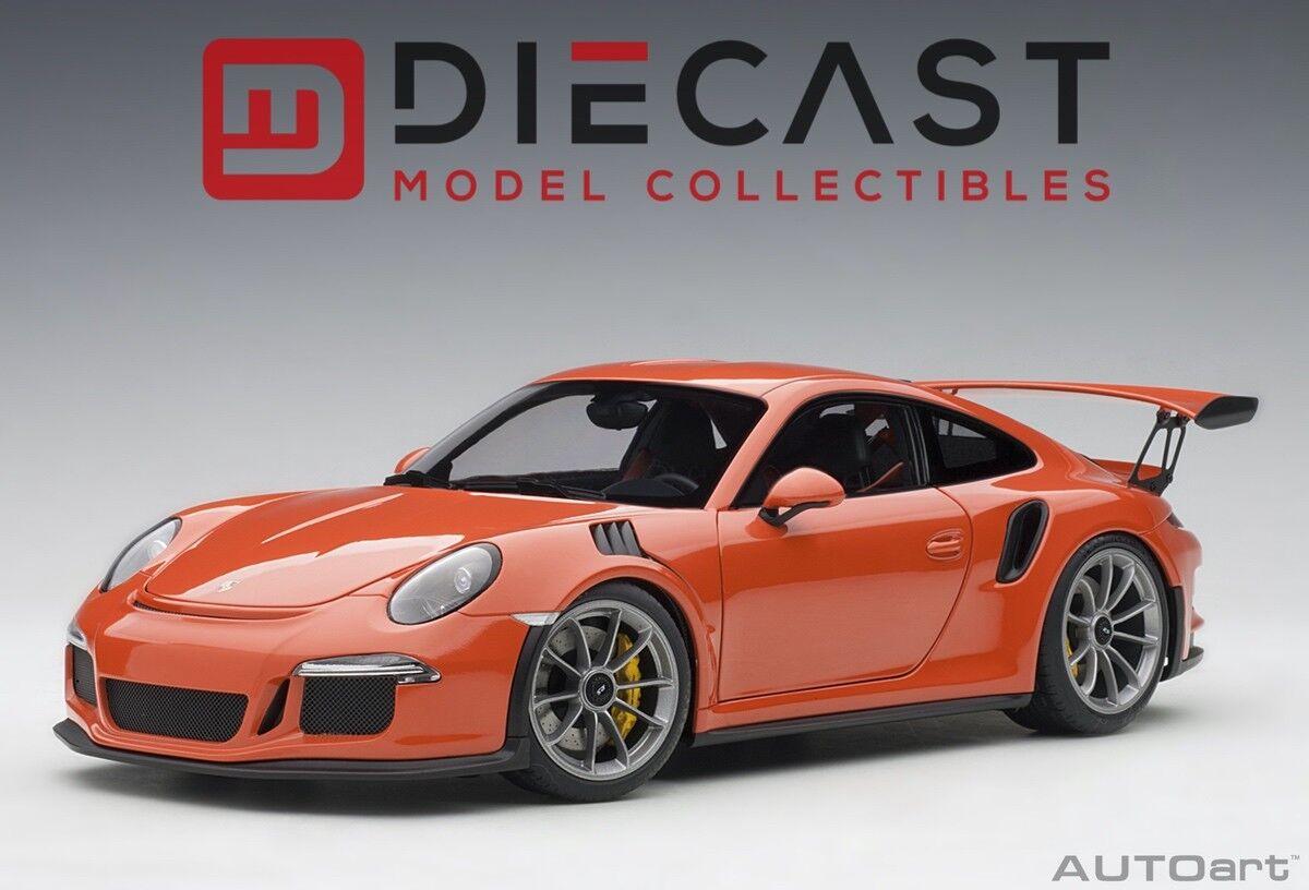 AUTOart 78168 Porsche 911(991)GT3 RS Lava  Orange Dark gris Wtalons 1 18TH Scale  économisez jusqu'à 30-50%