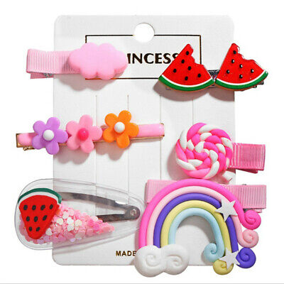 6Pc Cute Fruit Sequin Baby Girl Hair Clip Hairpin Baby Hair Clips Barrettes Clip