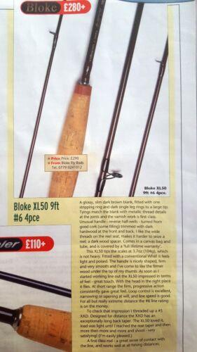 """Bloke Fly Rod Blank XL50 9 /"""" 6WT 4-piece"""