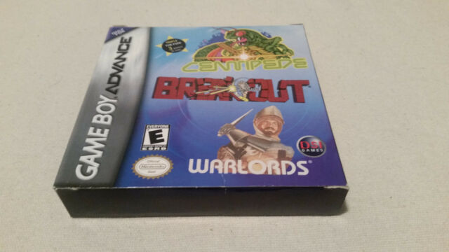 Centipede / Breakout / Warlords (Gameboy Advance) COMPLETE