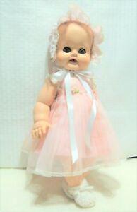 Madame-Alexander-Vintage-1950-039-s-14-034-Kathy-Baby-Doll-in-original-pink-dress