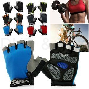 Cycling-Men-Women-Mountain-Bicycle-Cycle-Half-Finger-Gel-Pad-Anti-slip-Gloves