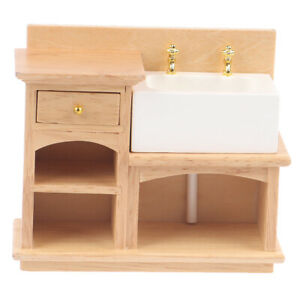 1-12-Miniature-Wooden-Wash-Basin-Cabinet-with-Ceramic-Hand-Sink-for-Dollhousha