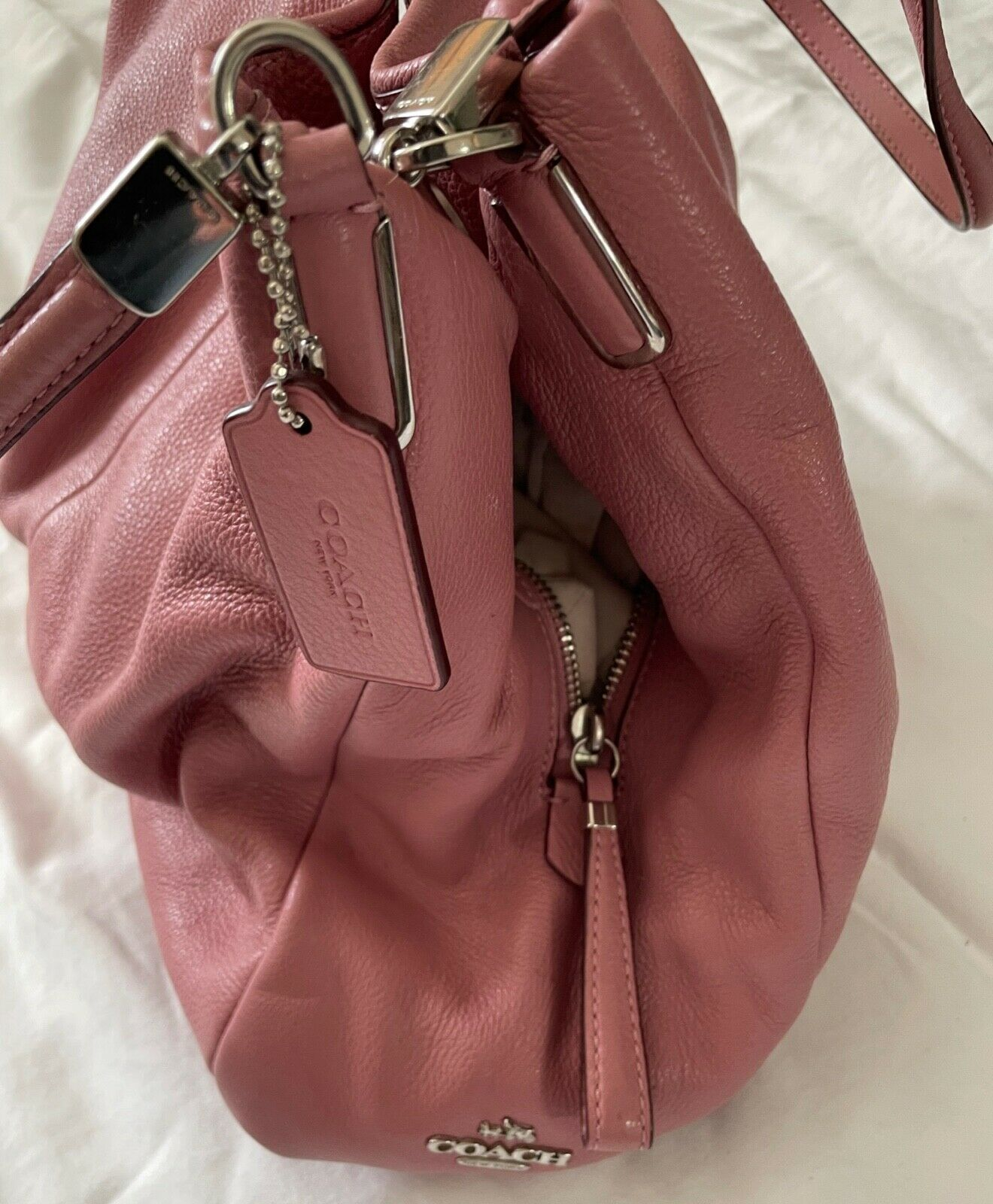Coach Dusty Pink Leather Satchel - image 2