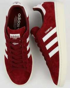 Details about Adidas Campus Trainers - Burgundy & White - BNIBWT