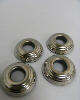 1937 Ford Car Door Handle Or Window Riser Crank Escutcheons Stainless Set Of 4