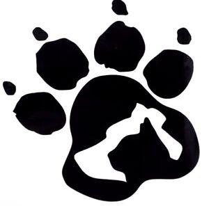 9e845f3304b3 Dog & Cat Silhouette Paw Print Car Truck Window Vinyl Decal Sticker ...