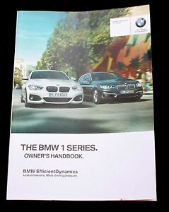 bmw 1 series 5dr f20 3dr f21 handbook owners manual wallet 2015 2018 rh ebay com