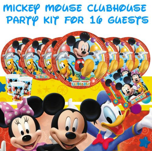 Disney Mickey Mouse Boys Birthday Party Tableware /& Decorations