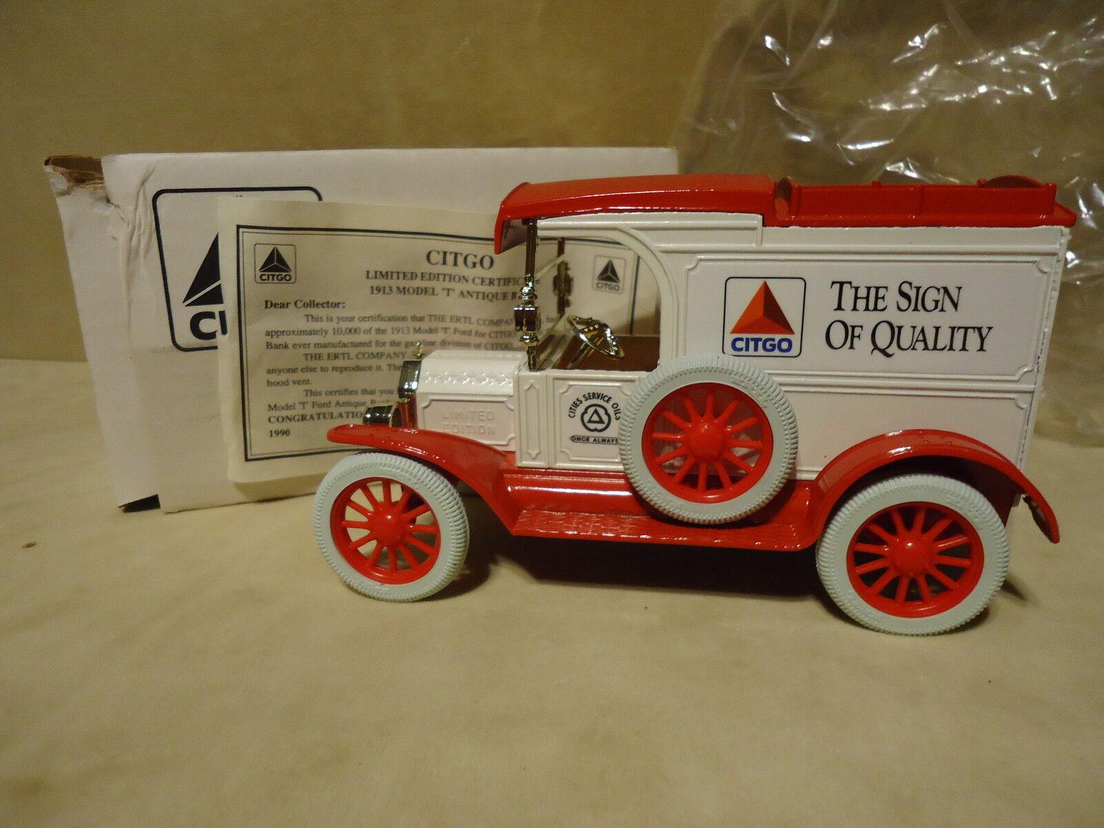 CITGO LUBRICANTS  4 MUSCULAR DYSTROPHY 1913 MODEL T  VAN  RARE STOCK   7537