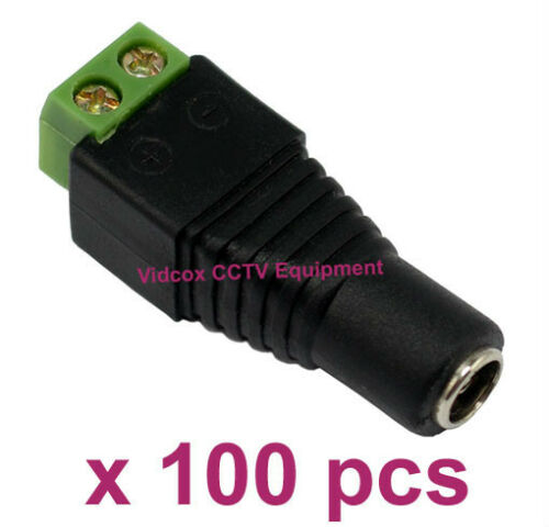NEW 100x 5.5mm x 2.1mm 12V DC Female Power Cable Connector Plug for CCTV Camera