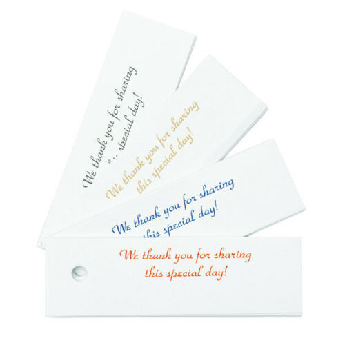 White with BLACK Confetti Cards Thank You Wedding Favor Tags Cards 25//pk