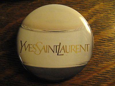 Yves Saint Laurent YSL France Designer Logo Advertisement Pocket Lipstick Mirror