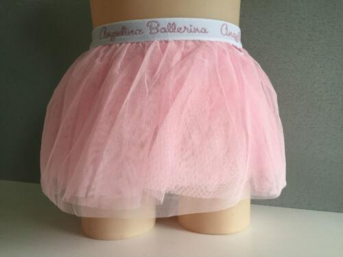 BNWT Girls Sz 4 Pastel Pink Angelina Ballerina Net Full Look Dance Tutu Skirt