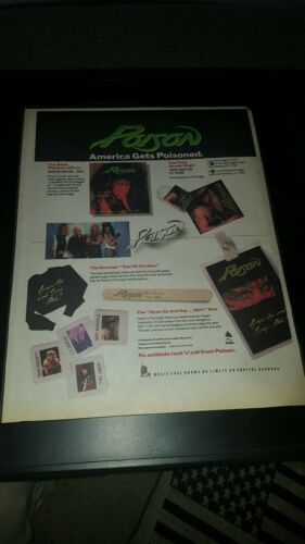 Poison Open Up And Say Ahh Rare Original Radio Promo Poster Ad Framed!