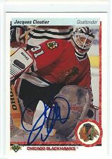 Jacques Cloutier Signed 1990/91 Upper Deck Card #114