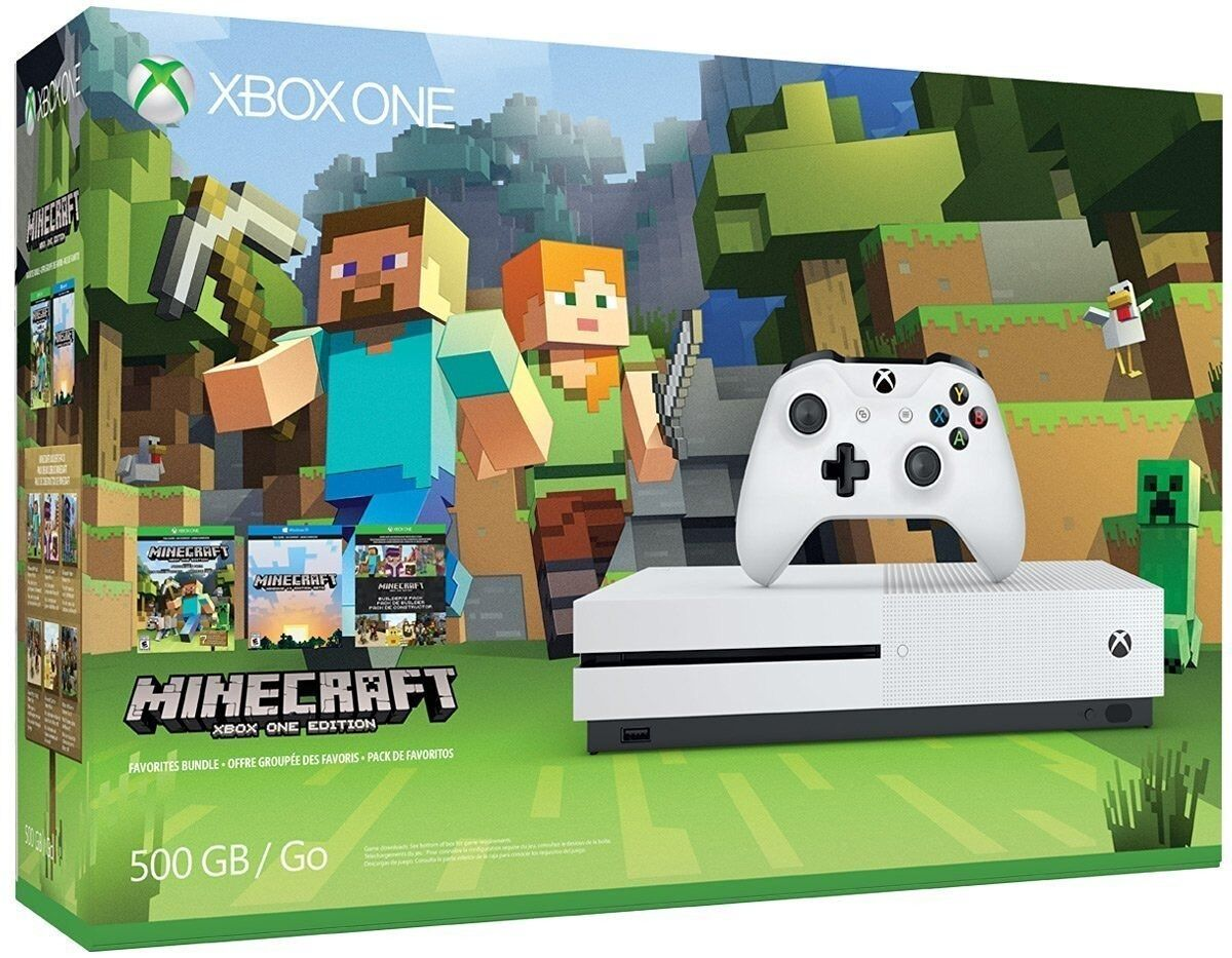 Have one to sell? Sell now Xbox One S 500GB Console - Minecraft Bundle