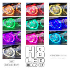 H8 LED Multi-Color Bulbs Kit | Halo Angel Eyes | Fog Lights | APP Remote Buy It