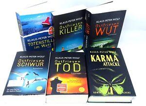 KLAUS-PETER-WOLF-Ostfriesen-Tod-Schwur-Wut-Killer-im-Watt-Karma-Attacke-6x-Buch