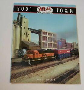 2001-Atlas-Model-Railroad-Catalog-H0-HO-N-Toy-Train-Ephemera