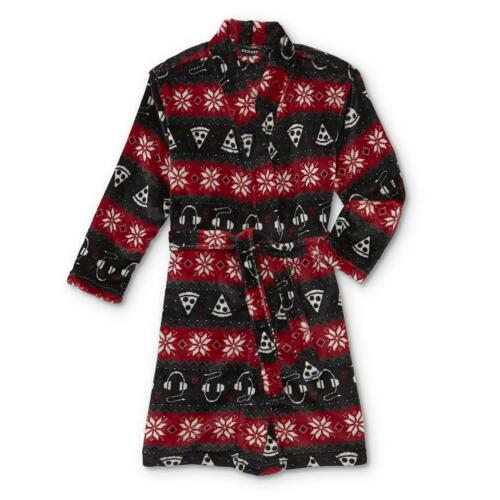 Size: L Joe Boxer Boys/' Fleece Robe 10-12 Fair Isle
