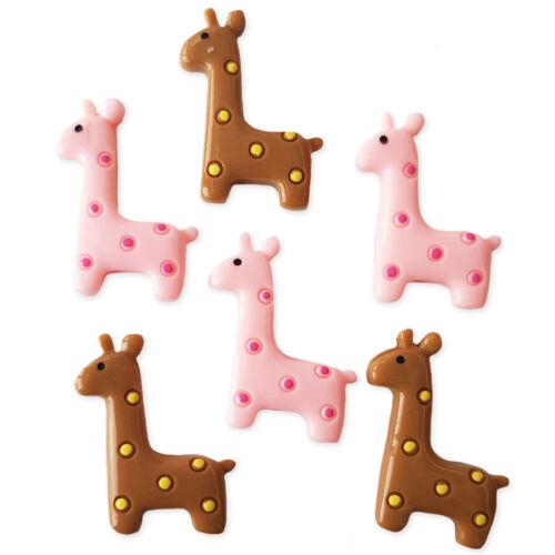4pcs Cute Giraffe Resin Kawaii Flatback Cabochons Embellishment Decoden Craft
