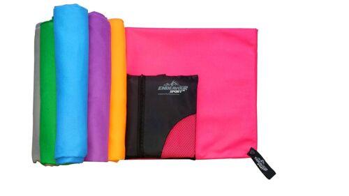 Antibactérien Microfibre Sports Travel Serviettes avec gratuit sac de transport séchage rapide