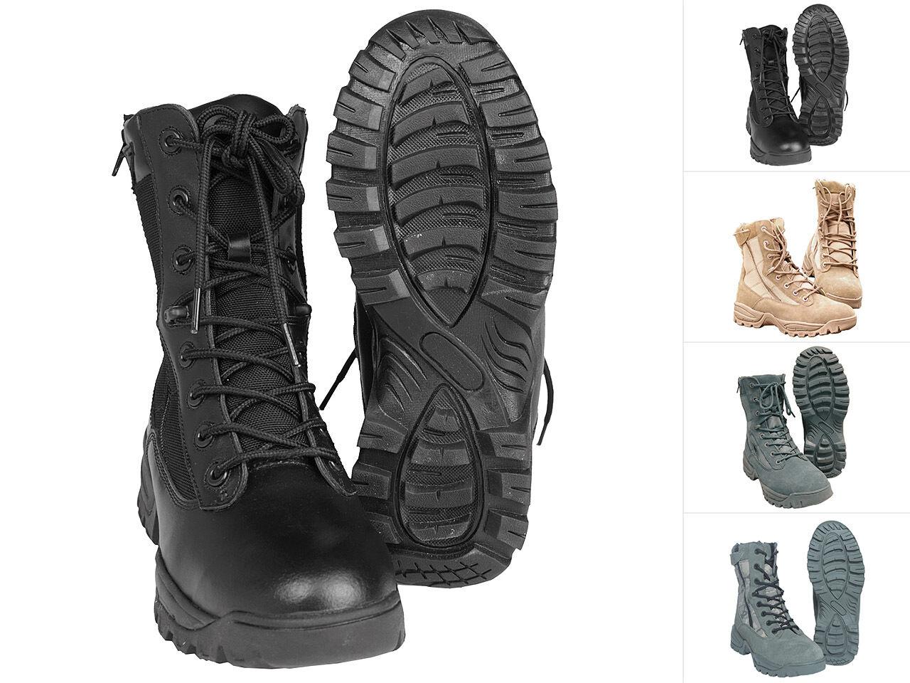 MIL-TEC TACTICAL Stivali Two Zip Scarpe Scarponcini Stivali di pelle boots 39-46