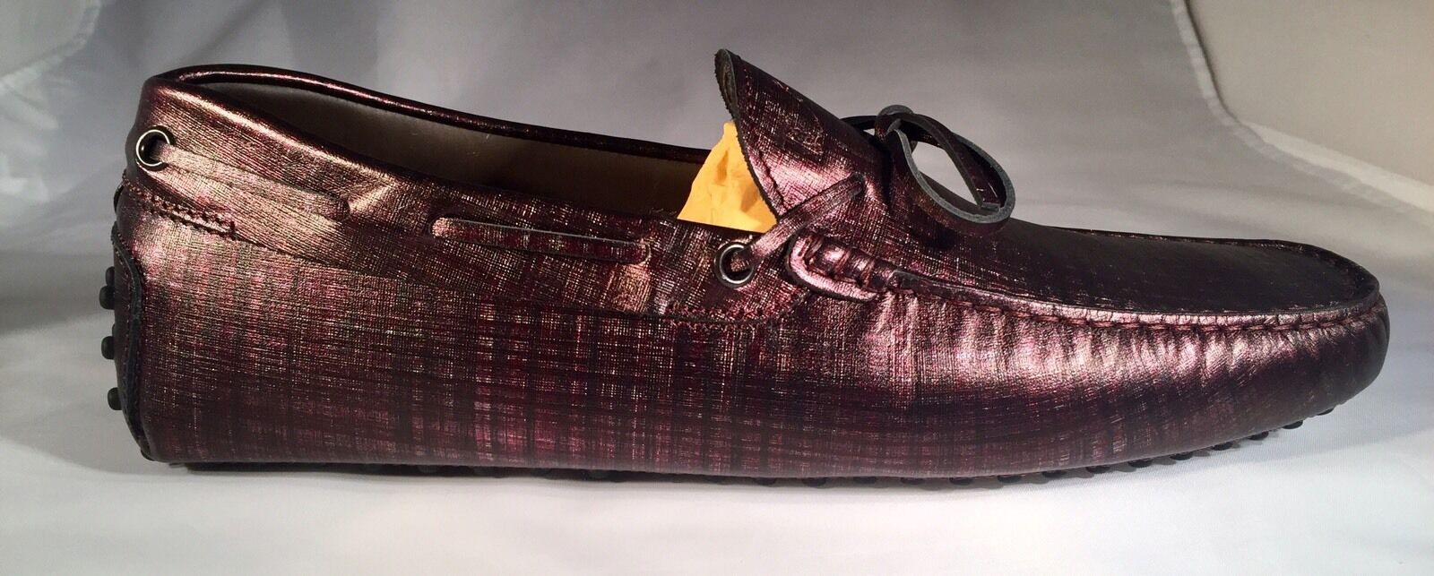 550 8.5  Tod's Purple Gommini Drivers Size US 8.5 550 Made In Italy 4f6f05