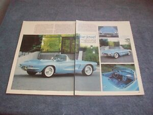 new style attractive price crazy price Details about 1961 Chevy Corvette Vintage Article