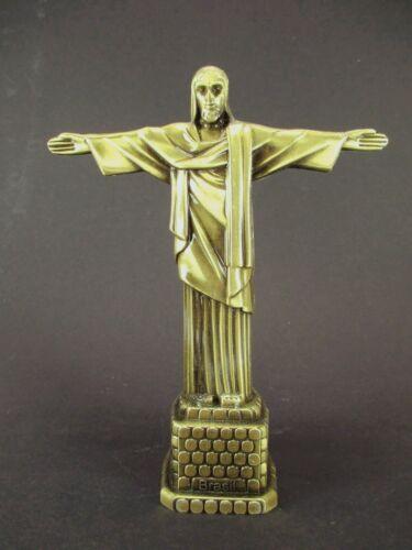 Cristo Statue Rio Janeiro Redentor Souvenir Metall Modell bronz 19 cm