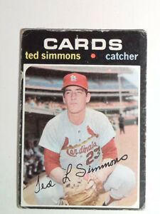 1971 Topps Baseball #117 Ted Simmons Rookie Card St. Louis Cardinals RC
