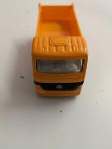 Siku-0814-mercedes-camiones-pritschenkipper-Dumper-Truck-naranja-de-coleccion
